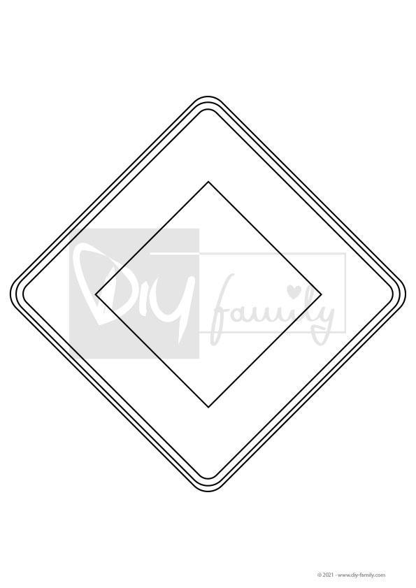 Vorfahrtsstraße – Einzelausmalvorlagen