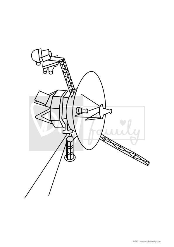 Voyager – Einzelausmalvorlage