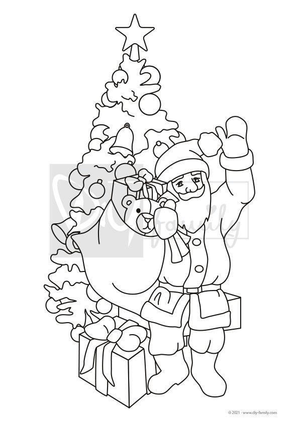 Weihnachtsmann 1 – Einzelausmalvorlagen