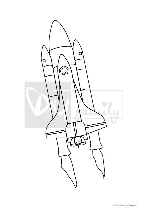 Spaceshuttle – Einzelausmalvorlage